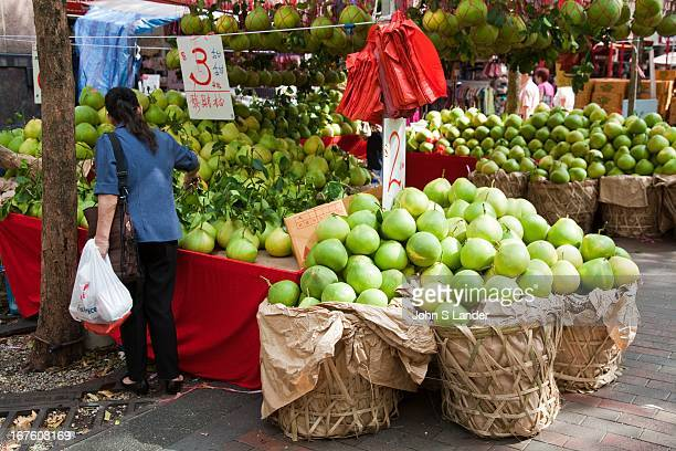 The pomelo is a citrus fruit native to Southeast Asia It is usually pale green to yellow when ripe with sweet white flesh and very thick spongy rind...