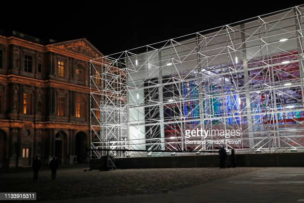 """The """"Pompidou Center"""" invites itself to the Louvres - Illustration view during the Louis Vuitton show as part of the Paris Fashion Week Womenswear..."""