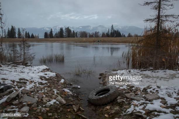 WHITEFISH MONTANA The pond inside the Veterans Peace Park on Nov 14 2018