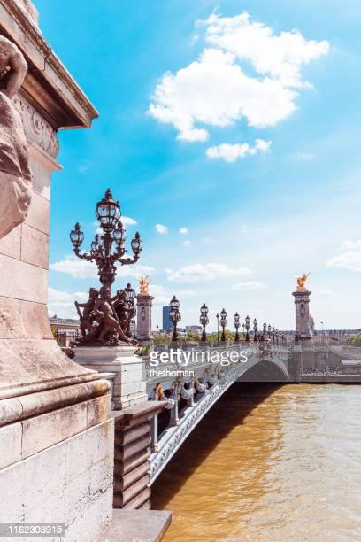the pont alexandre iii, paris, france - pont alexandre iii photos et images de collection