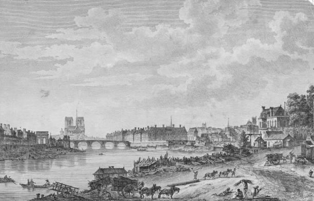 The Pont de la Tournelle over the River Seine in Paris,...