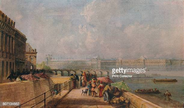 The Pont des Arts and the Louvre from the Quai Conti' c1849 Painting held at the Victoria And Albert Museum London From A Catalogue of the Pictures...