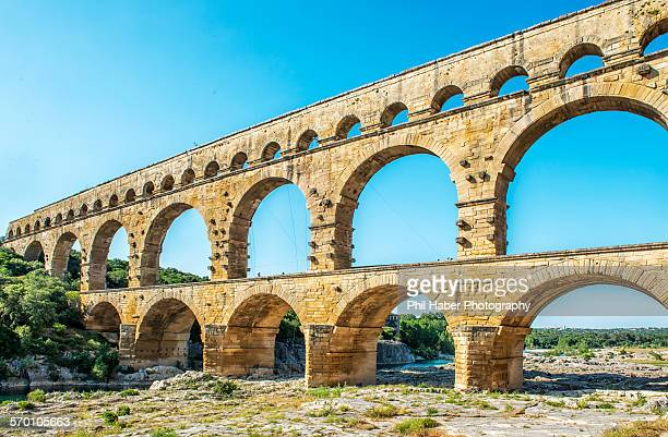 the pont du gard - phil haber stock pictures, royalty-free photos & images