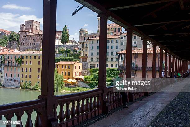 The Ponte degli Alpini over the River Brenta in north Italian town of Bassano During World War I Bassano was in the front area and all industrial...