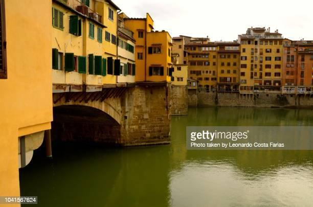 the ponte vecchio - leonardo costa farias stock photos and pictures