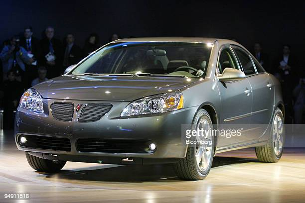 The Pontiac G6 is unveiled at the North American International Auto Show in Detroit Michigan on Monday January 5 2004