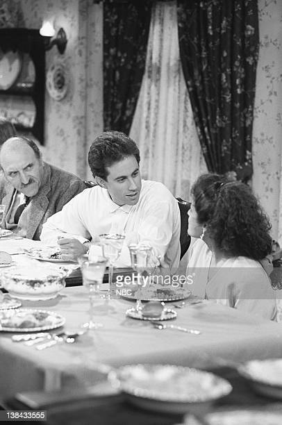 SEINFELD The Pony Remark Episode 2 Pictured Len Lesser as Uncle Leo Jerry Seinfeld as Jerry Seinfeld Julia LouisDreyfus as Elaine Benes