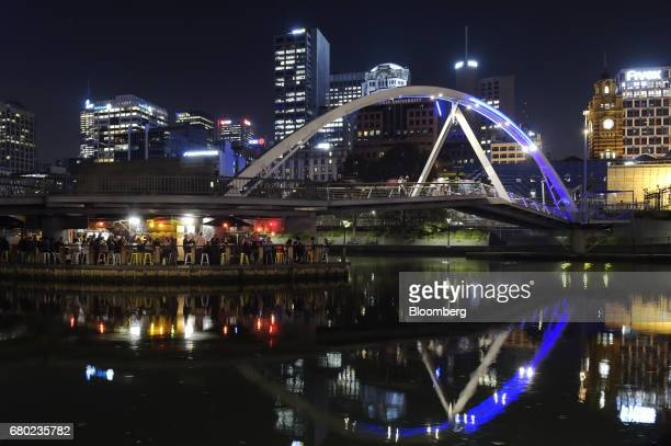 The Ponyfish Island bar stands on the Yarra River in Melbourne Australia on Friday April 28 2017 Australia has some of the world's largest reserves...