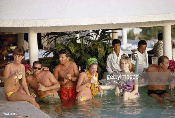 The pool bar at the Villa Vera Hotel Spa and Racquet Club in Acapulco, January 1968.