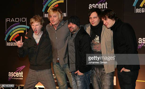 The pop band Sunrise Avenue arrives for the Radio Regenbogen Award 2008 on March 7 2008 in Karlsruhe Germany