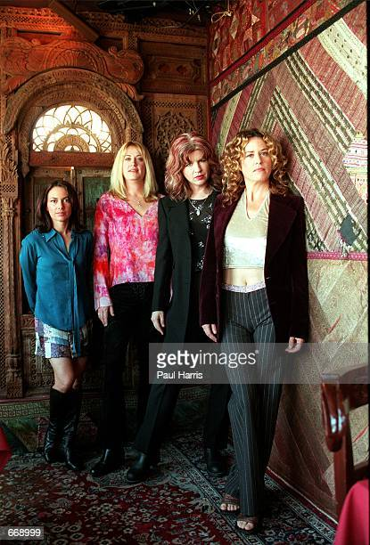 The Pop band The Bangles at the House Of Blues to announce their reunion July 18 2000 in Los Angeles Ca The band is returning from their hiatus and...