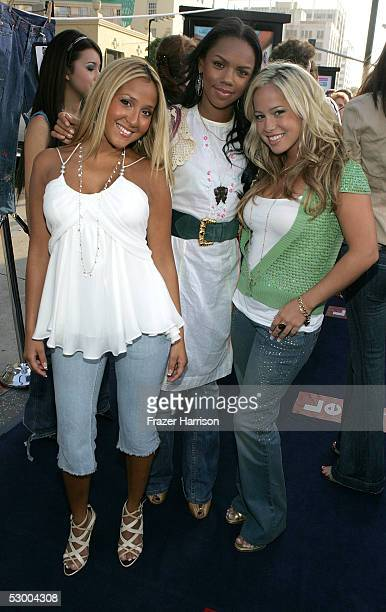 The pop group '3LW' arrives at the premiere of 'The Sisterhood of the Traveling Pants' at The Grauman's Chinese Theatre on May 31 2005 in Hollywood...
