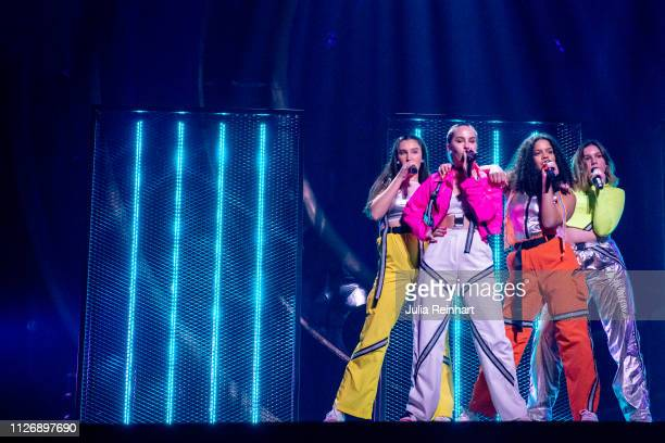 The pop group High15 participates in the first heat of Melodifestivalen Sweden's competition to select the country's representative at the European...
