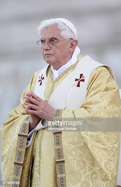 'The pope Benedict XVI celebrating the Holy Mass for the Solemnity of The Most Holy Body and Blood of Christ at Basilica of San Giovanni in Laterano...