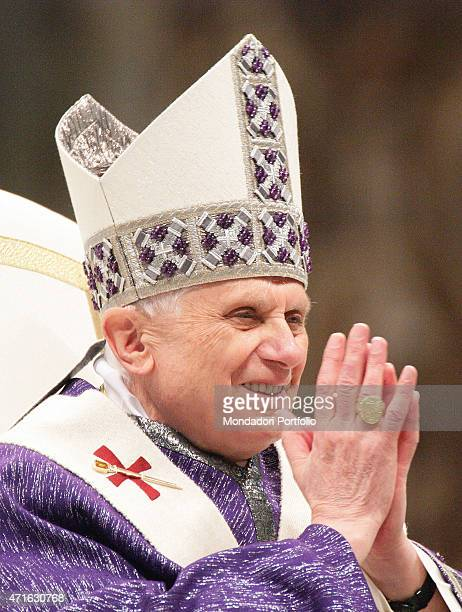 The pope Benedict XVI saying the Holy Mass for the workers Vatican City 2005