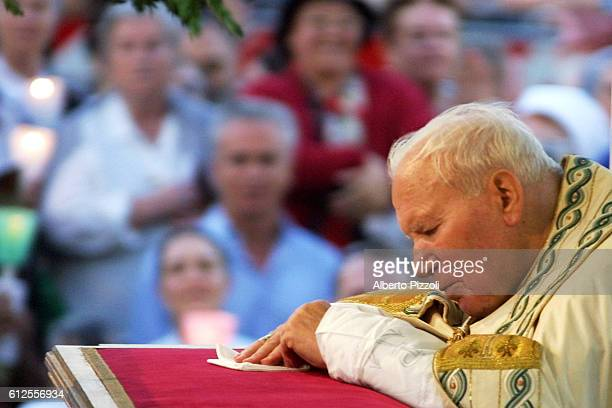 The Pope celebrated mass in front of the Basilica of St. John Lateran and then led the procession from St. John's Basilica to the Basilica of St....