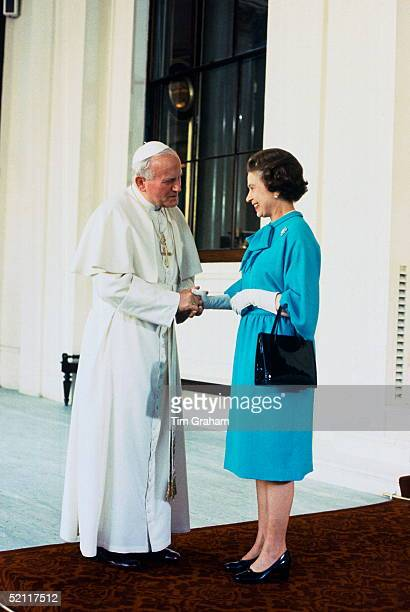 The Pope Visiting The Queen At Buckingham Palace