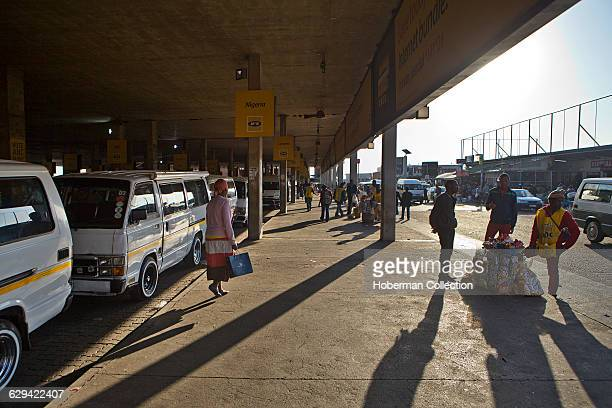 The popular Baragwanath Taxi Rank and Traders' Market in the Soweto township Johannesburg
