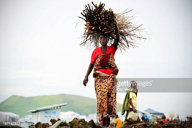 The population camp of Mugunga camp on April 24 in Goma Democratic Republic of the Congo Mugunga III camp is for internally displaced people and also...
