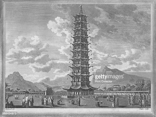 The Porcelain Pagoda At Nankin in China' 1793 After Stothard From A New and Complete System of Universal Geography by Christopher Kelly Artist...