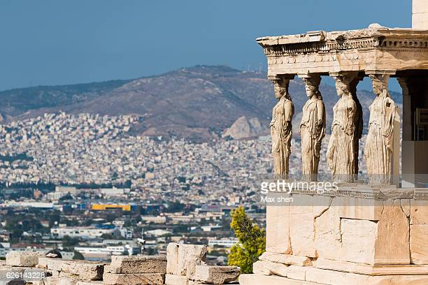 The Porch of the Caryatids in Acropolis of Athens