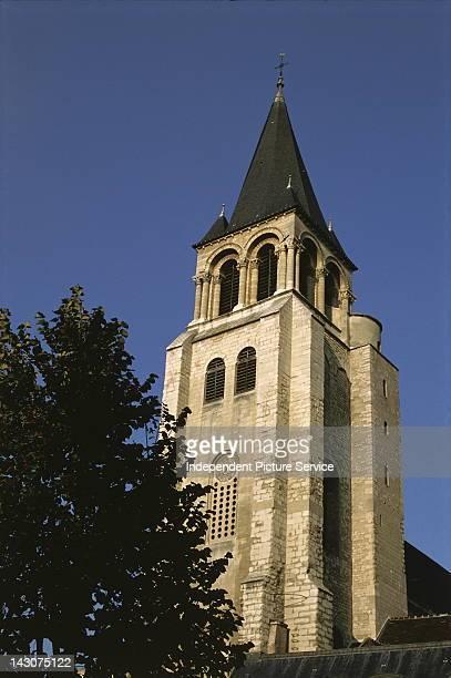 The porch tower of Saint-Germain-des-Pr's , Paris, France.