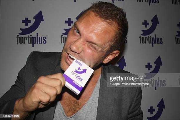 The porn actor Nacho Vidal presents the aphrodisiac Product 'FortiPlus' on June 20 2012 in Madrid Spain
