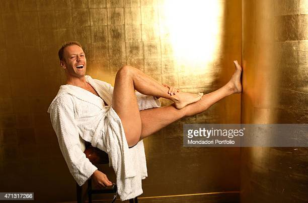 The pornographic actor and director Rocco Siffredi posing for a photo shooting at the Hotel Abitart Rome Italy 12th October 2006