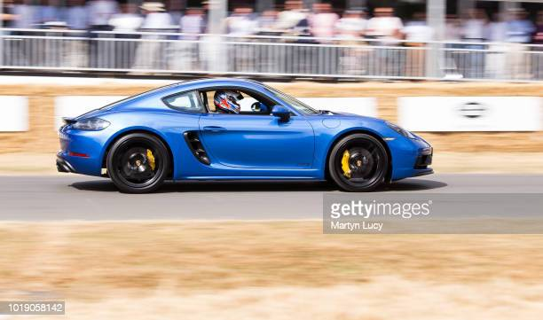 The Porsche 718 Cayman GTS races up the hill at Goodwood Festival of Speed 2018 currently considered the best and most desirable allrounder that...