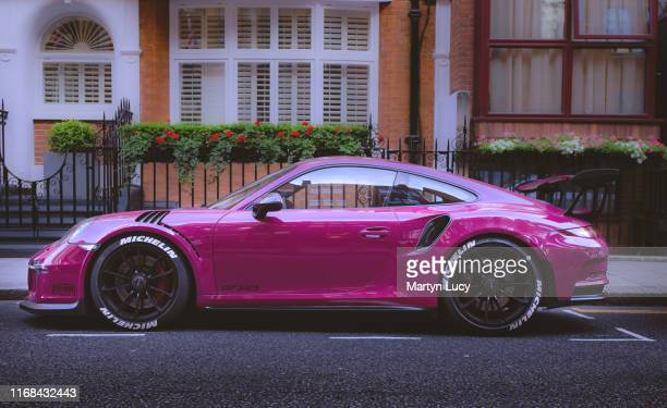 The Porsche 911 GT3 RS in knightsbridge, London. This car is one of many that have been shipped over into London from the middle east for the summer...