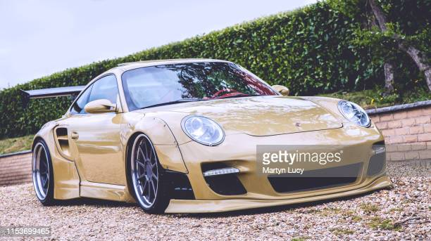 The Porsche 911 Turbo Liberty Walk, on show at the Sharnbrook Hotels charity event, '30k in a day' in Bedfordshire. Liberty Walk are a car tuner...