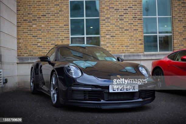 The Porsche 911 Turbo S seen at London Concours. Each year some of the rarest cars are displayed at the Honourable Artillery Company grounds in...
