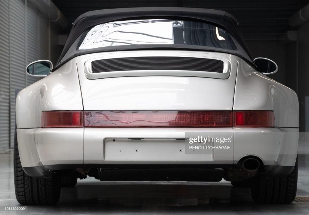 BELGIUM-AUCTION-CAR-MARADONA-PORSCHE : News Photo
