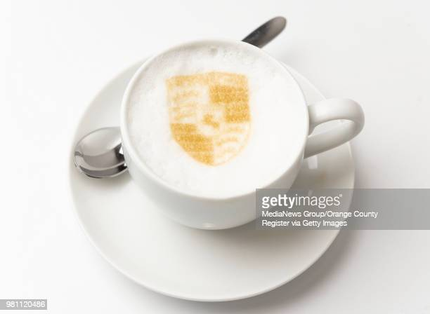 The Porsche art on a cup of cappuccino at Restaurant 917 at the Porsche Experience Center in Carson on Wednesday May 30 2018