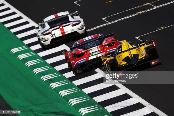 The Porsche GT Team 911 RSR of Richard Lietz and Gianmaria Bruni The AF Corse Ferrari 488 GTE EVO of Alessandro Pier Guidi and James Calado and The...