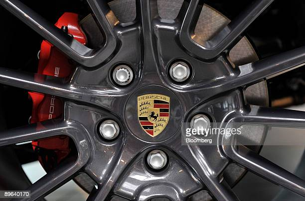 The Porsche logo is seen on a wheel rim in Rosenheim Germany on Friday June 19 2009 Porsche SE may find its alliance with Qatar will hasten a...