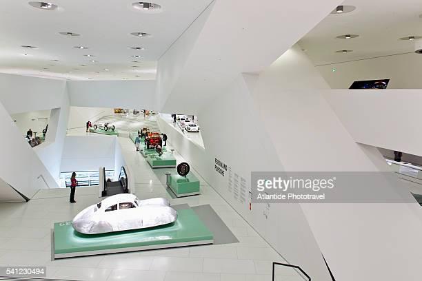 the porsche museum, porscheplatz, stuttgart, germany - brand name stock pictures, royalty-free photos & images