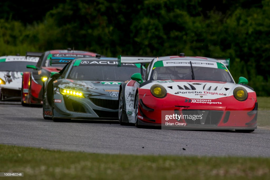 The 58 Porsche Of Patrick Long And Christina Nielsen Denmark Leads A