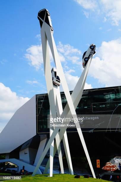 The Porsche Sculpture in the Sun, Stuttgart, Germany