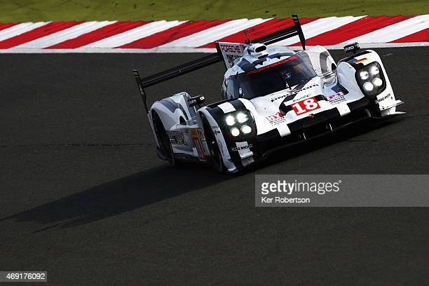 The Porsche Team 919 Hybrid of Neel Jani, Romain Dumas and Marc Lieb drives during practice for the FIA World Endurance Championship 6 Hours of...