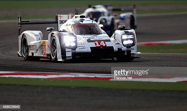 The Porsche Team Porsche 919 Hybrid LMP1 driven by Roman Dumas of France Neel Jani ofd Switzerland and Marc Lieb of Germany during the FIA World...