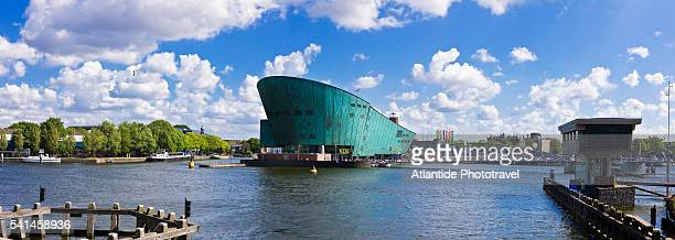 the port and nemo (architect renzo piano) - nemo museum stock pictures, royalty-free photos & images