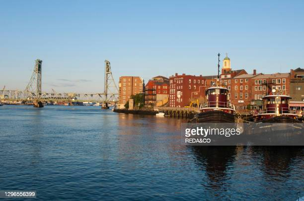 The port area. Portsmouth. New Hampshire. New England. USA.