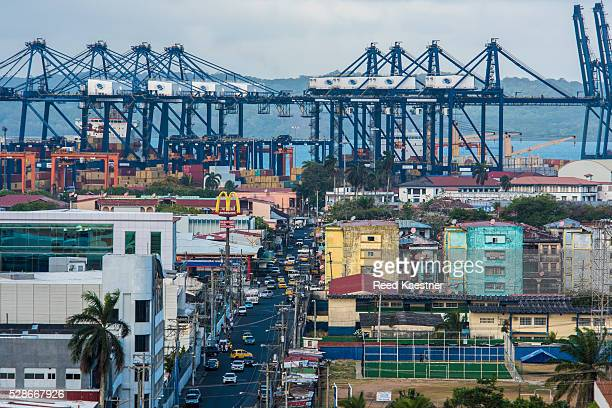 The port city of Colon Panama