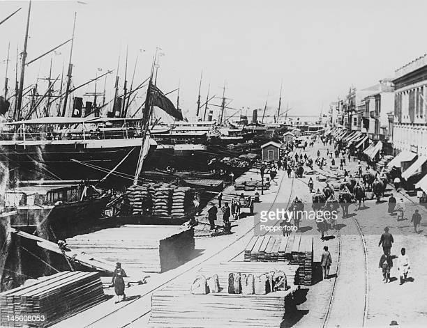 The port city of Izmir formerly Smyrna Turkey circa 1920