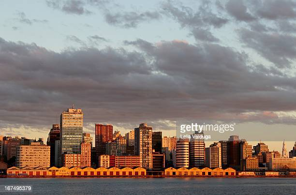 the port in porto alegre, the sunset - rs - brazil - porto alegre stock pictures, royalty-free photos & images