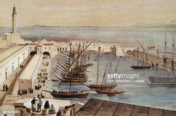 The port of Algiers Algeria