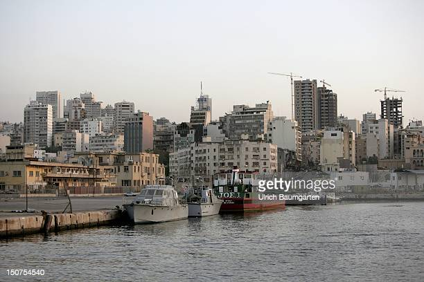 LEBANON BEIRUT The port of Beirut and skyline