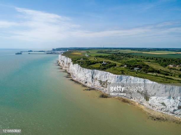 The Port of Dover Ltd. Stands near the White Cliffs of Dover on the coast in Dover, U.K., on Wednesday, May 27, 2020. The U.K. Announced its...
