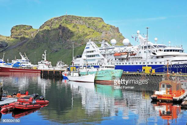 The Port of Heimaey in the Westman Isles, Iceland.